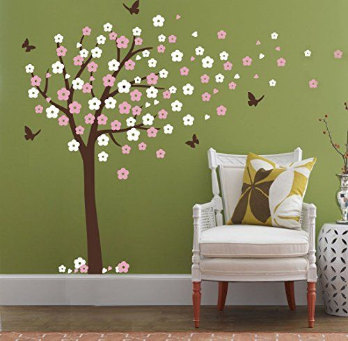 Huge Cherry Blossom Tree Blowing in the Wind Wall Decals ... https://smile.amazon.com/dp/B01AT2ZJG8/ref=cm_sw_r_pi_dp_x_GS01ybYPQFBSQ