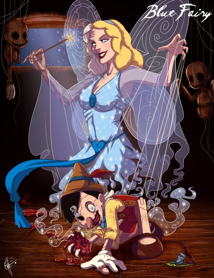 Twisted Princess: Blue Fairy (all of these style of drawings are by Jeffery Thomas)