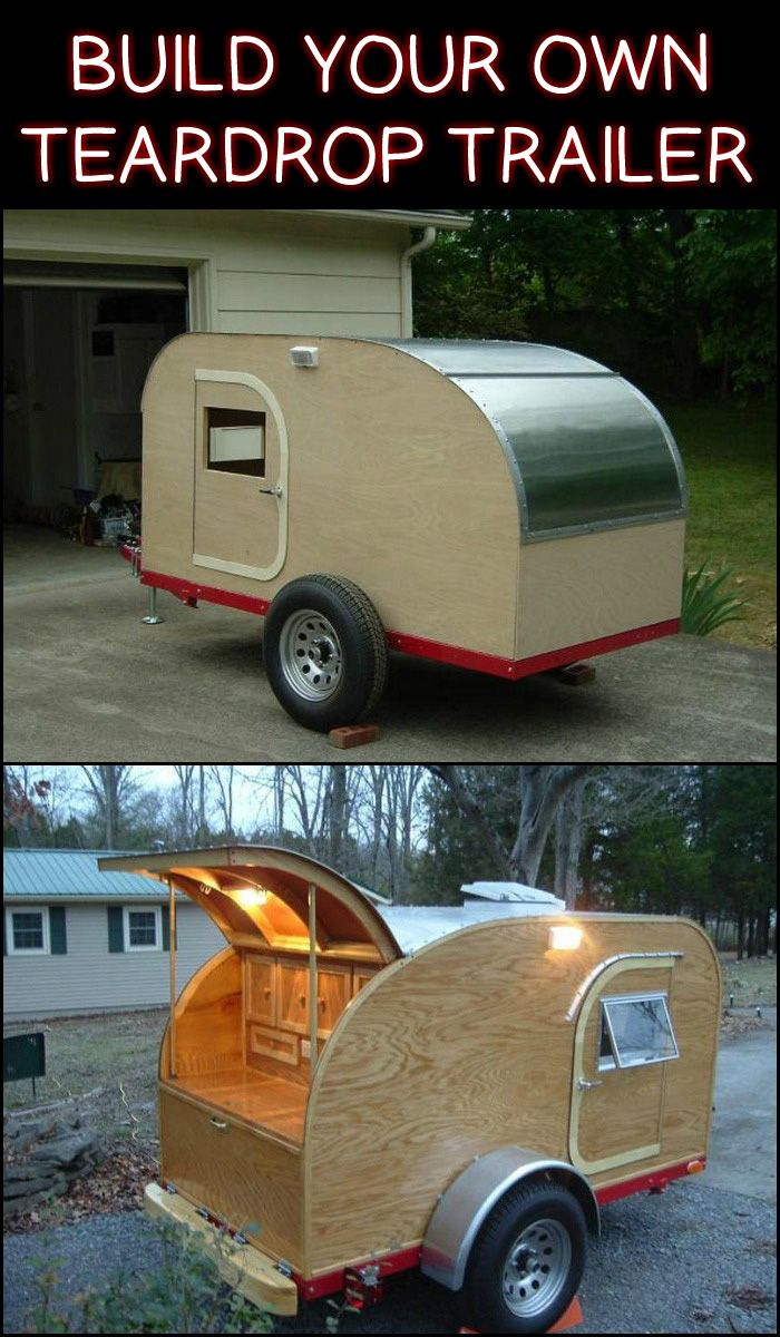 This DIY teardrop trailer measuring 4×8′ can accommodate two people for sleeping. Is this going to be your next project?