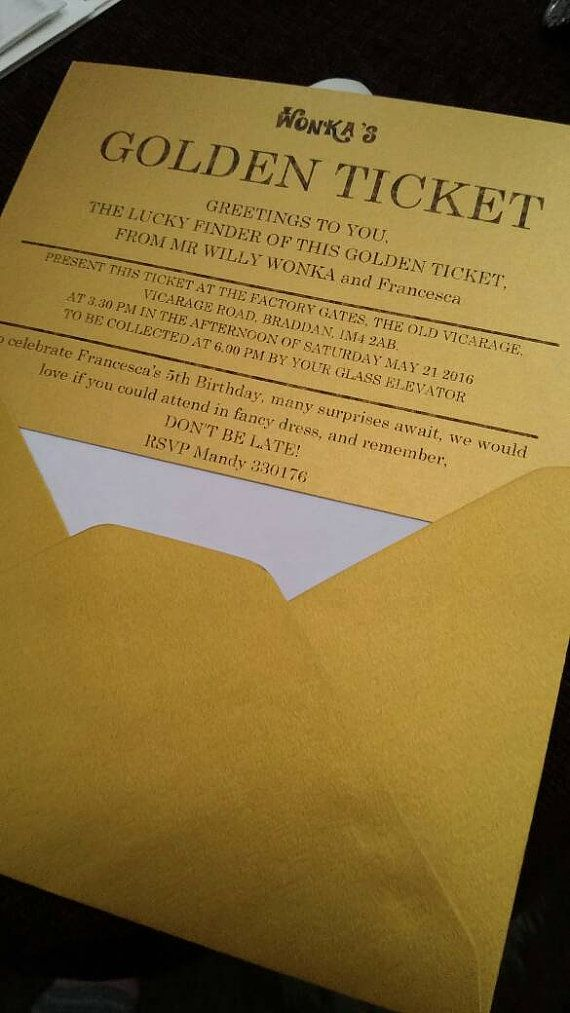 golden ticket invitation