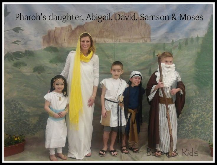 Abigail, moses, david, samson bible costumes