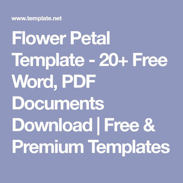 Flower Petal Template - 20+ Free Word, PDF Documents Download | Free & Premium Templates