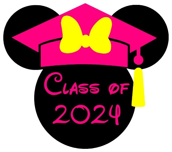 Graduation Mickey Printable Iron On Transfer or Use as Clip |Graduation Mickey Mouse Shirts