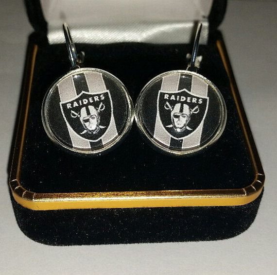 Oakland Football Earrings Shiny silver by BrumbleBerryBoutique