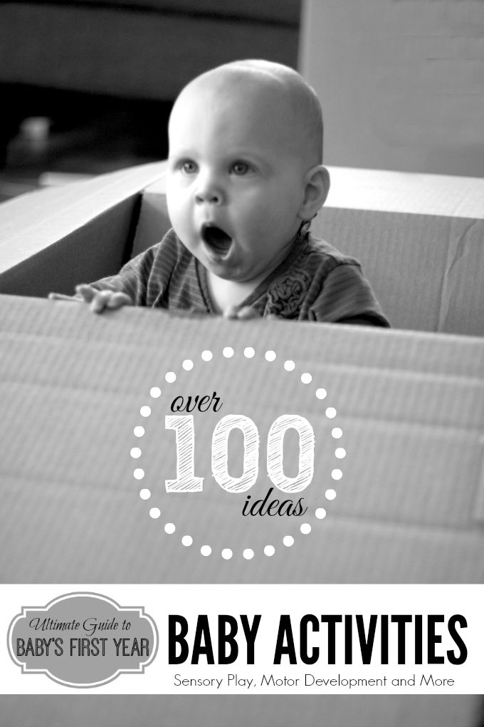 Ultimate Guide to Baby Activites   Over 100 Cool and Exciting Ideas for Sensory Play, Motor Development, DIY Toys and more #ultimatebaby #babyplay