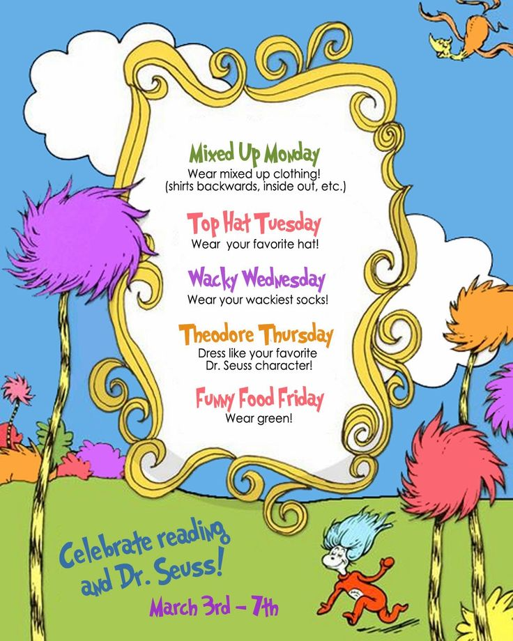 dress up to Read Across America Week,