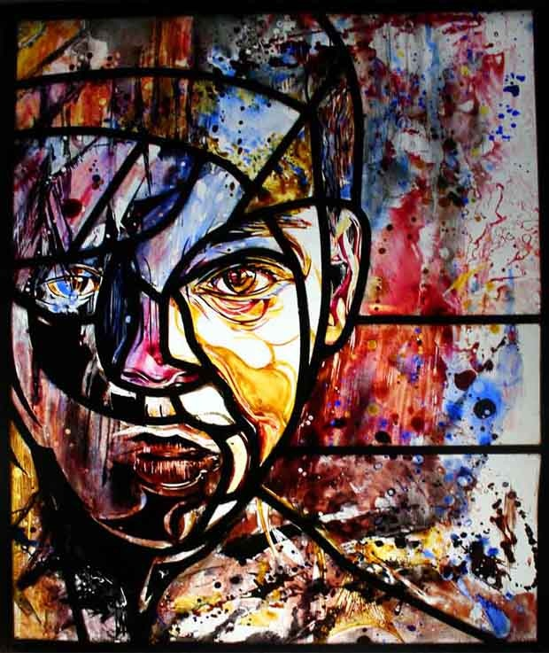 LOVE~ DEVOTION  Paris stencil artist C215 aka Christian Guemy - Paris street art exhibition, The Prophets - Alternative Paris