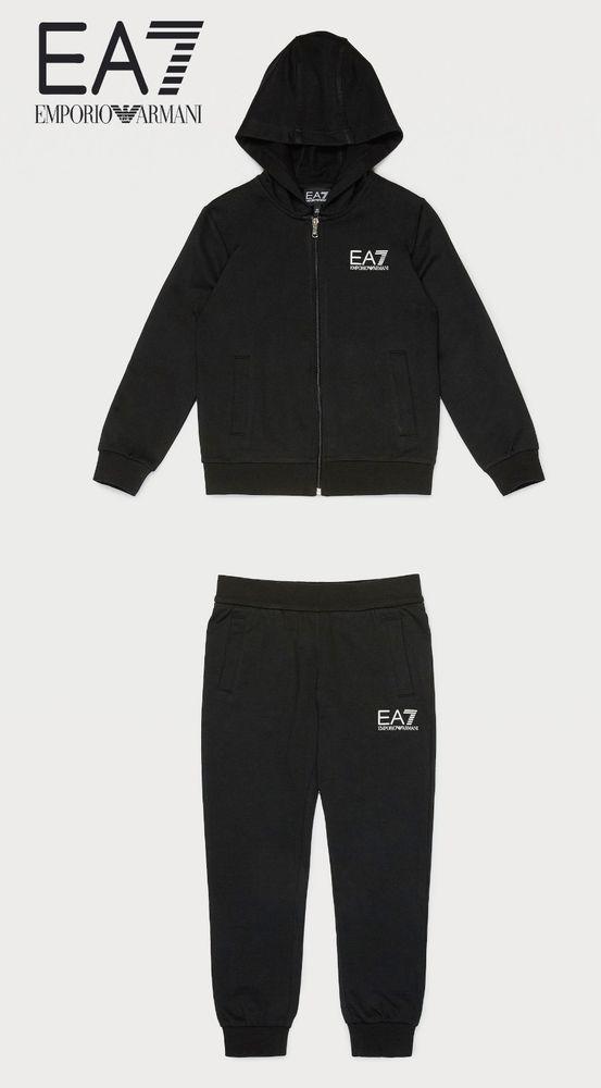 189e8bd7440f Emporio Armani EA7 Boys Visibility Tracksuit Jacket Joggers 8 9 10 ...