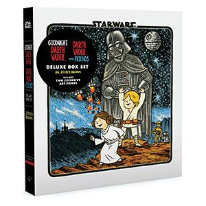 Enjoy the last two books in the series of Jeffrey Brown's Star Wars tales for children! Darth Vader takes his parental role very seriously as Luke and Leia play with their friends, and are lulled to sleep by their father's dulcet tones.