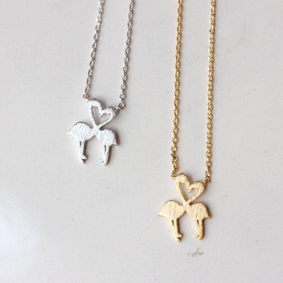 HEART FLAMINGO - Necklace