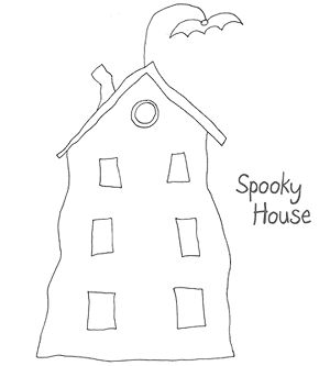Spooky house Color by numbers