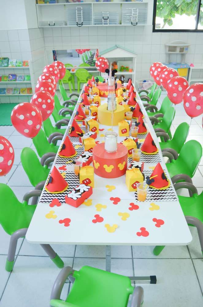 Such a great Mickey Mouse birthday party! See more party ideas at CatchMyParty.com!