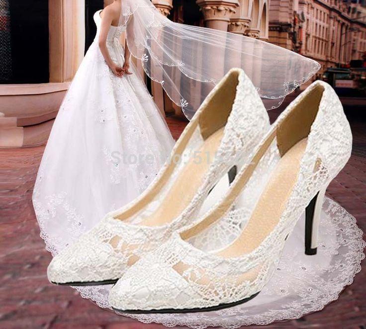 Die besten 25 Brautschuhe spitze Ideen auf Pinterest  Hochzeitsschuhe Hochzeit Schuhe