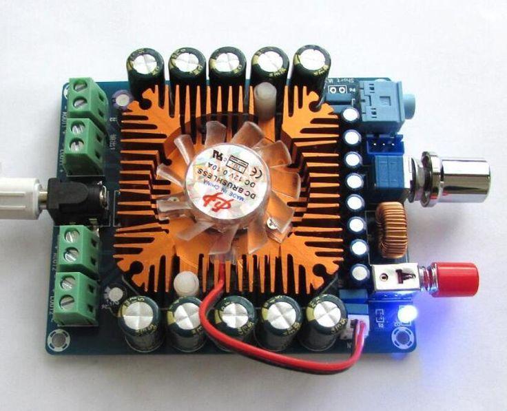 DC 12-16 V 4 Canales TDA7850 Tablero Del Amplificador de 50 W * 4 de ALTA FIDELIDAD de Audio estéreo Del Coche + Ventilador