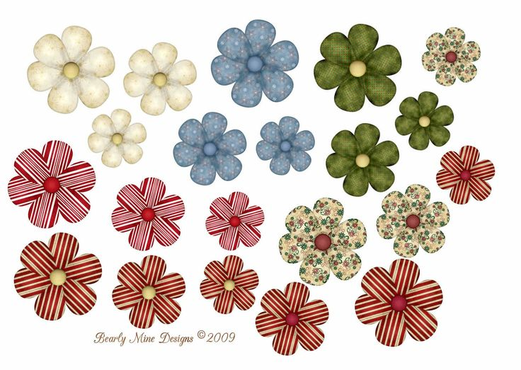 Bearly Mine Designs: Freebie Flowers #4