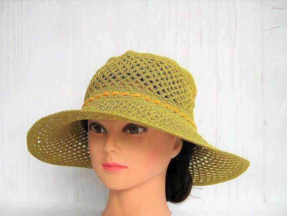 Crochet summer hat for womens / Light cotton hat / Lace hand