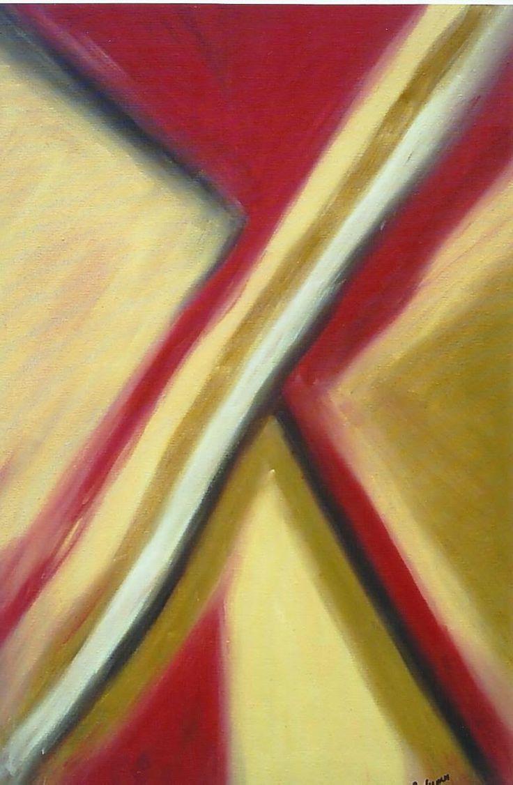 Pinturas Abstratas- Rosa Rodrigues: Tela a óleo N.88