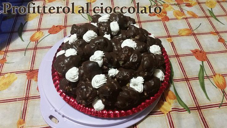 Profitterol panna e cioccolato