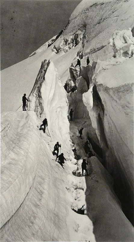 Ascent of mont blanc,  Auguste Rosalie Bisson -1880