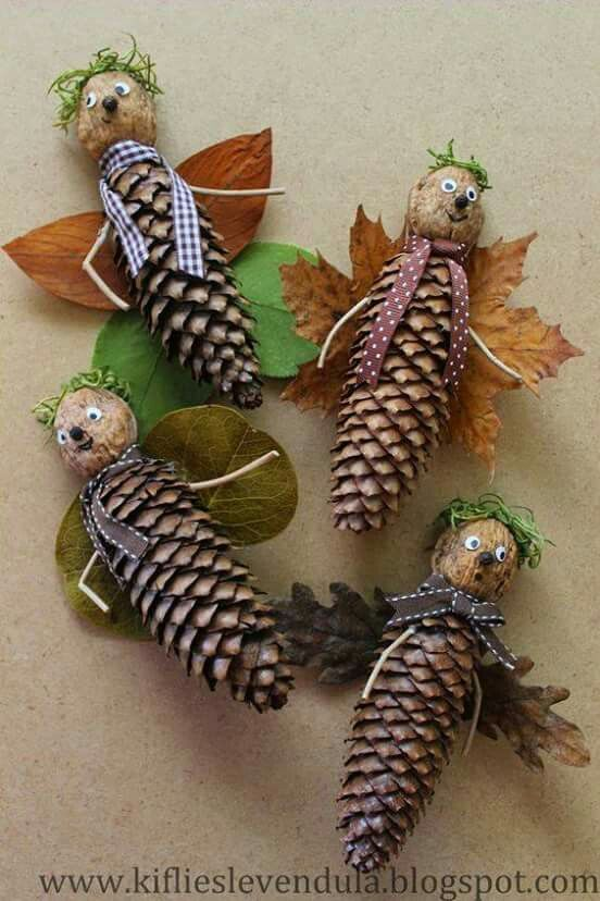 Pinecone creatures!