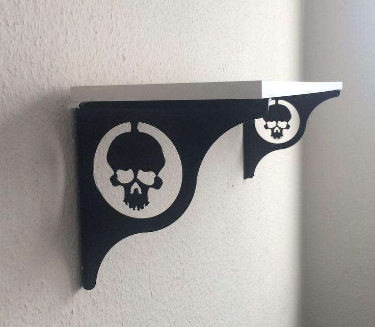 2 Stück Regal Regalträger Skull Wandregal Konsole Regalbodenträger | eBay