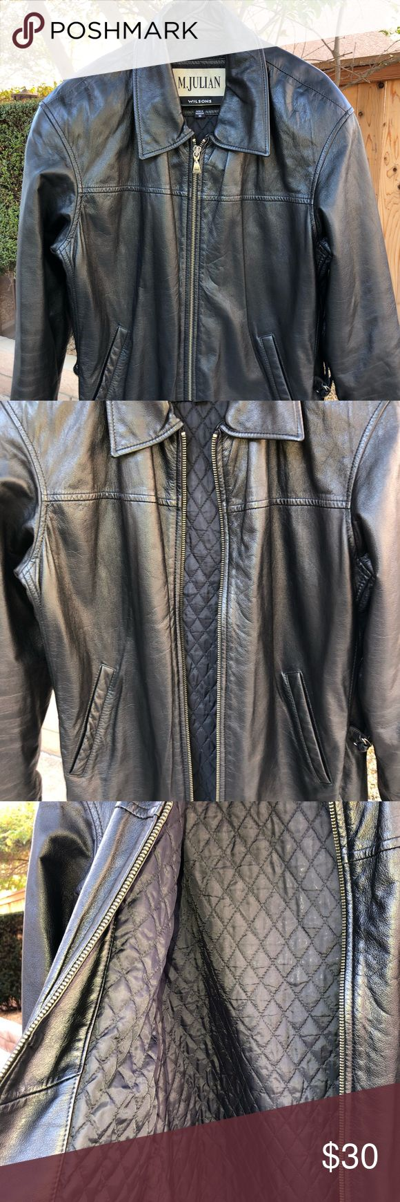 Wilson M. Julian black leather jacket size M Unisex