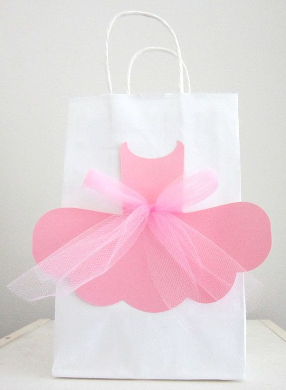 Ballerina Favor Goody Gift Bags by CraftyCue on Etsy