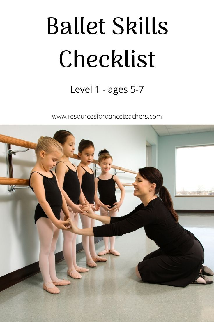 Free Downloadable Ballet Skills Checklist Learn How To Structure Your Beginners Ballet Class Beginner Ballet Ballet Class Dance Teacher Tools