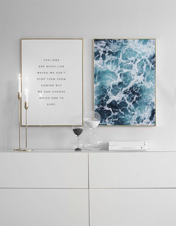 Plakat mit Wasserfotografie...