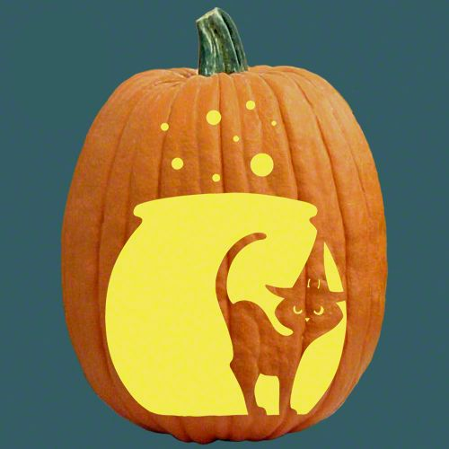 83 best cats witches pumpkin carving patterns images on Cat pumpkin carving patterns