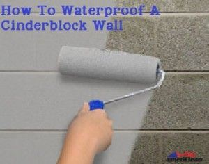 Turn damp spaces into usable square footage by waterproofing cinderblock walls. The waterproof walls can then be painted any color of your choice of covered with paneling or sheetrock.    First, here's what you'll need to do this job: - Hydraluclic cement - Masonry waterproofing paint - Broom - Masonry paintbrush ...