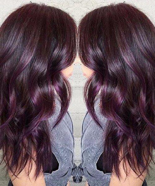 45 Ideas para el color del cabello Sweet Plum