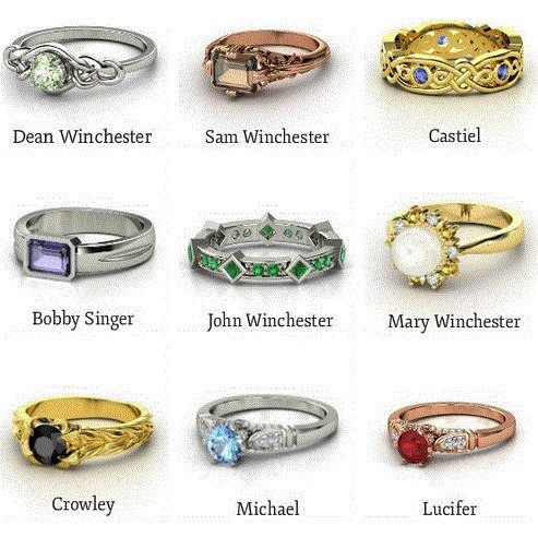 Supernatural Rings.....So Much Want....Can I change my engagement ring?