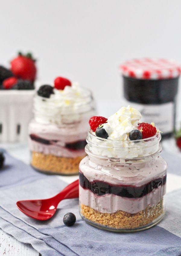 No Bake Lemon Berry Cheesecakes