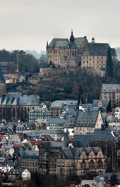 View of Marburg, dominated by the Castle, Hesse, Germany | by solar.empire