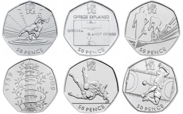 Rare 50p pieces are being sold online for more than £200 each, according to a new list which reveals the most scarce commemorative designs.