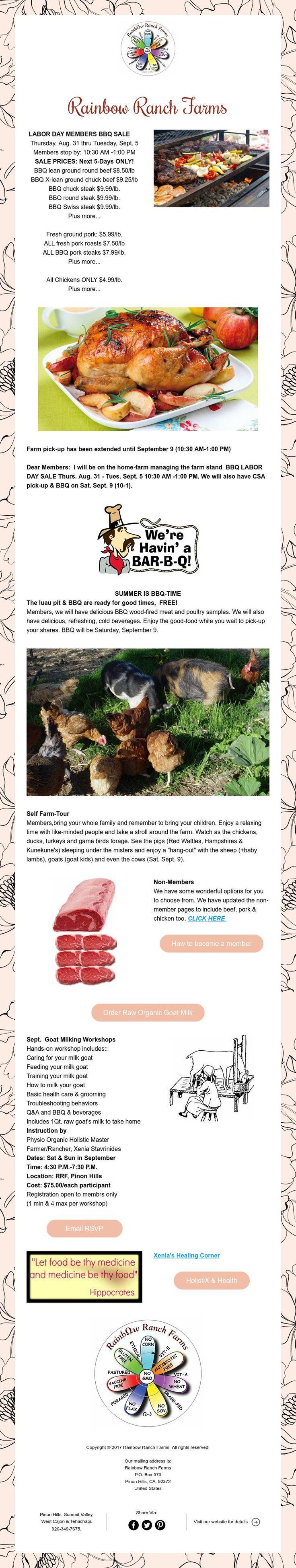Huge Labor Day BBQ-Sale 5-Days Only! Click Link for Details!