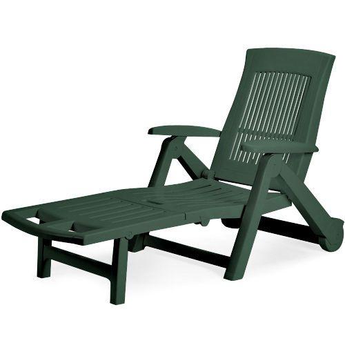 Good Green Plastic Sun Lounger Patio Folding Sun Bed Outdoor Deck Chair Garden  Beach Part 17