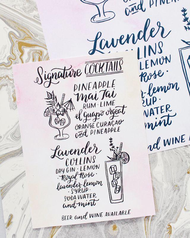 Paper Party 2016 Cocktail Menus designed by Parrott Design Studio / Oh So  Beautiful Paper