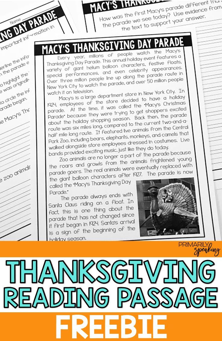 small resolution of All About Thanksgiving {Integrating Language Arts \u0026 Social Studies}    Thanksgiving reading passages
