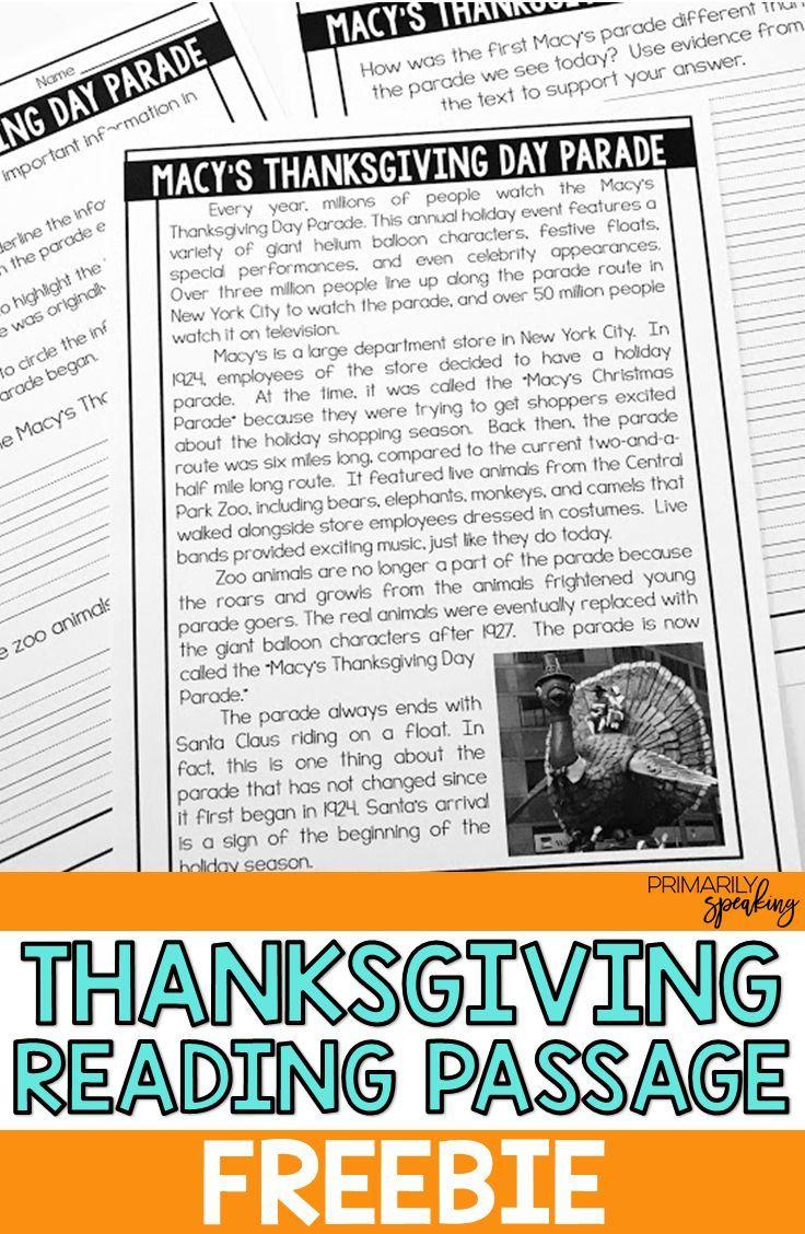 All About Thanksgiving {Integrating Language Arts \u0026 Social Studies}    Thanksgiving reading passages [ 1128 x 736 Pixel ]