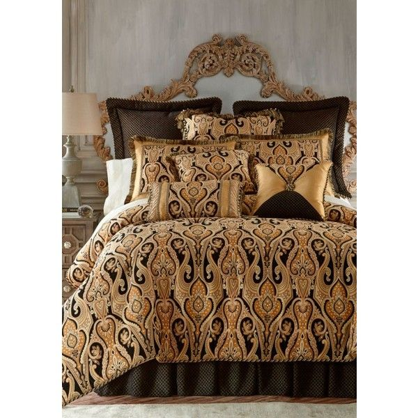 Austin Horn Classics Yellow Alexandria Comforter Set ($730) ❤ liked on Polyvore featuring home, bed & bath, bedding, comforters, yellow, oversized comforters, yellow comforter sets, yellow bed set, yellow comforter and yellow shams