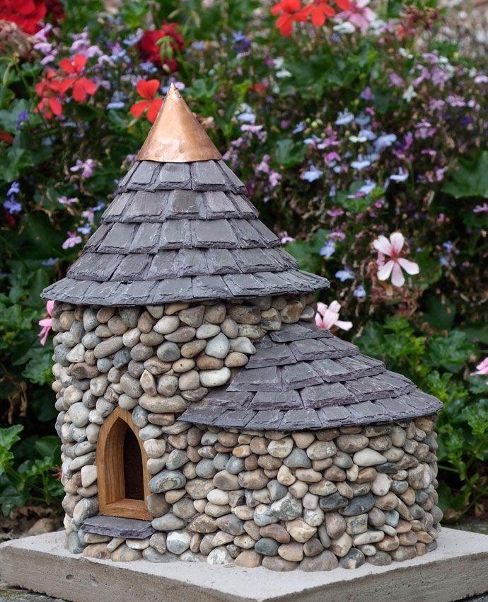 Stone fairy house diy
