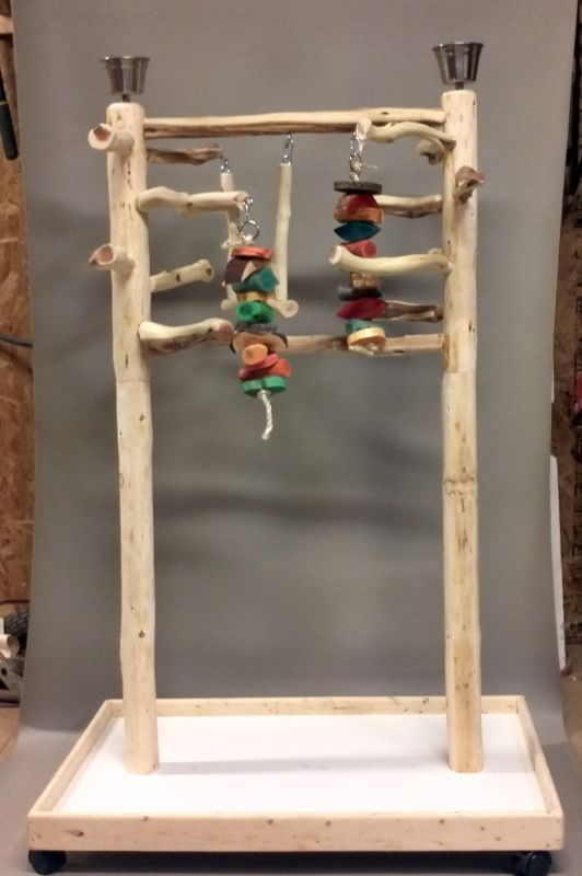 AFL3 Manzanita Activity Center Parrot Tree Bird Stand Toy Play Gym lik Java Wood