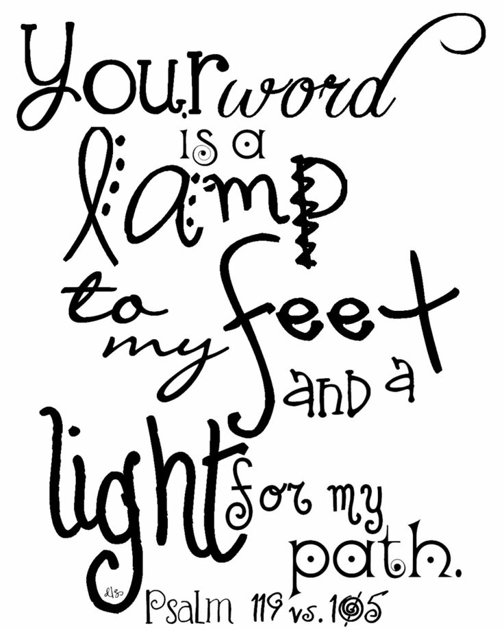 psalm 119 105 coloring pages - photo#27