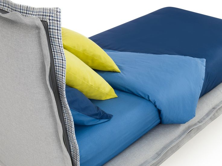 Charme two tone bed with high headboard  - ARREDACLICK