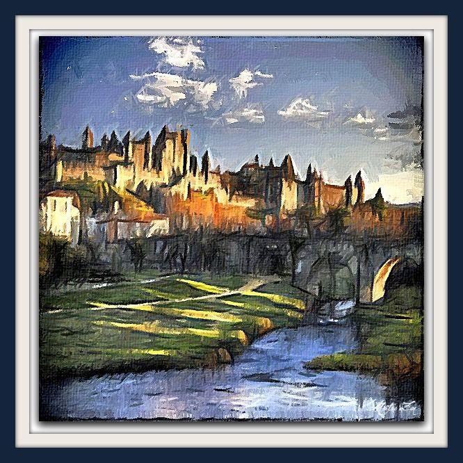 Peinture: Carcassonne