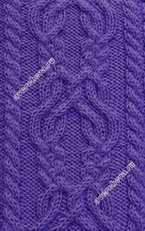 узор 309 knit stitch pattern cable chart