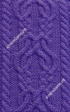 узор 309 knit stitch pattern cable chart