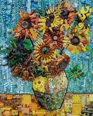 Jane Perkins - Found Object Art - follow this Pin to her site. Amazing Art & Well Crafted!